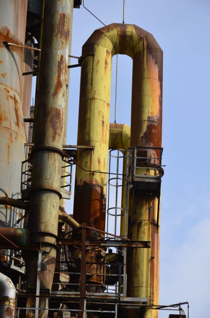 Über ein weitverzweigtes Rohrsystem wurde der Wind zu den Hochöfen transportiert. Bildrechte: Wenzel Seibold.