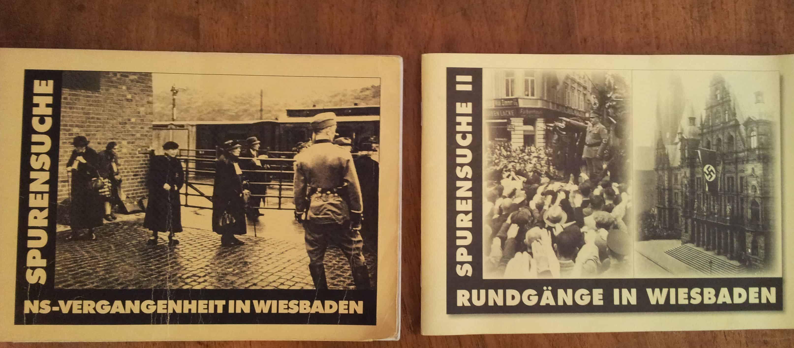 Broschüren zur Spurensuche: NS-Vergangenheit in Wiesbaden I und II, hrsg. v. Aktives Museum Spiegelgasse für Deutsch-Jüdische Geschichte in Wiesbaden e.V., Wiesbaden 1998 und 2003.